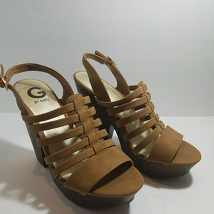 G by Guess Seany2 Platform Gladiator Sandals